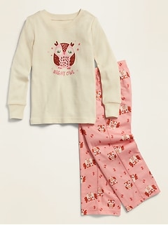 Loose-Fit Graphic Pajama Set for Toddler & Baby