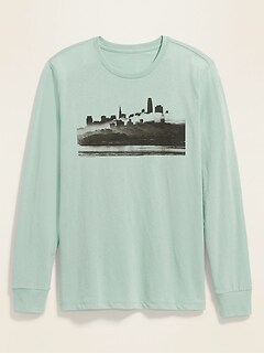 Graphic Soft-Washed Long-Sleeve Crew-Neck Tee for Men
