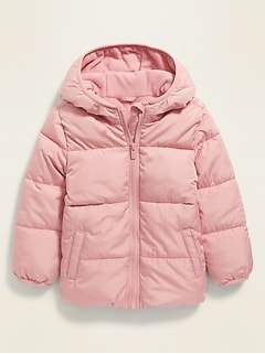 Unisex Solid Frost-Free Puffer Jacket for Toddler