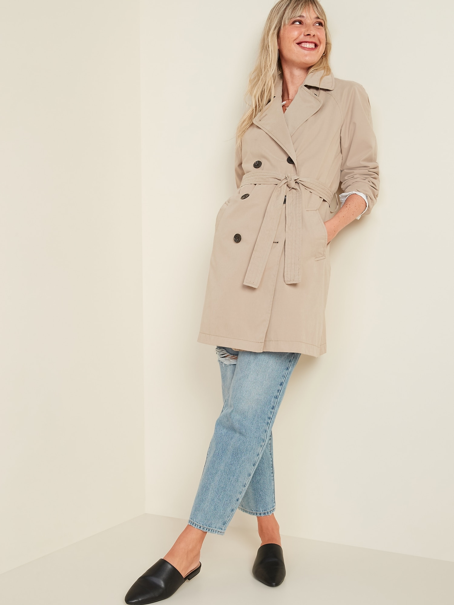 Water-Resistant Trench Coat for Women   Old Navy