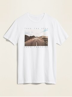 Soft-Washed Graphic Crew-Neck Tee for Men