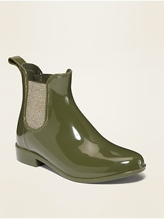 Vinyl Chelsea Rain Boots for Girls