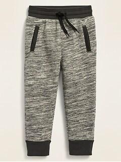 Unisex Functional-Drawstring Jogger Sweatpants for Toddler