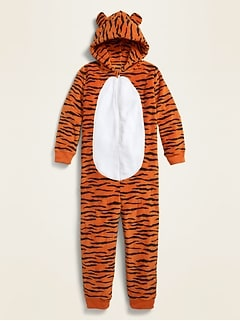 Cozy Hooded Gender-Neutral One-Piece Pajamas for Kids