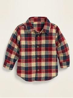 Unisex Plaid Twill Shirt for Baby