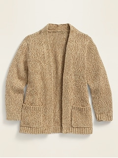 Open-Front Cardigan Sweater for Toddler Girls