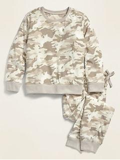 Printed Micro Performance Fleece Pajama Set for Girls