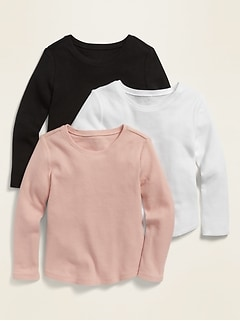 Thermal Scoop-Neck Tee 3-Pack for Toddler Girls