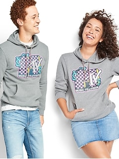 MTV™ Graphic Gender-Neutral Pullover Hoodie for Adults
