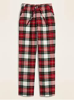 Pantalon de pyjama en flanelle à carreaux pour homme