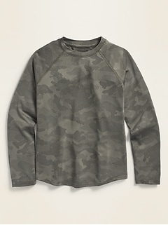 Go-Dry Camo Long-Sleeve Performance Tee for Boys