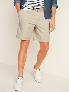 Elastic-Waist Ultimate Built-In Flex Twill Shorts for Men -- 8-inch inseam