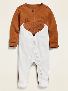 Unisex Critter-Graphic Footed One-Piece for Baby