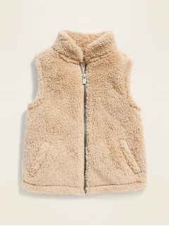 Sherpa Vest for Toddler Girls