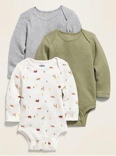 Unisex Thermal Bodysuit 3-Pack for Baby