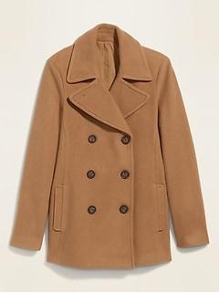 Manteau matelot au fini brossé soyeux pour femme