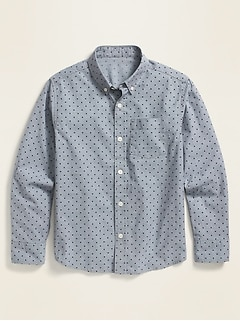 Built-In Flex Printed Long-Sleeve Shirt for Boys