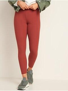 Legging à taille haute en tricot côtelé pour femme
