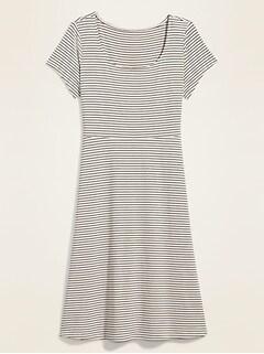 Jersey Fit & Flare Plus-Size Midi Dress