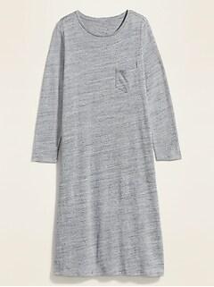 Sweater-Knit Plus-Size T-Shirt Shift Dress