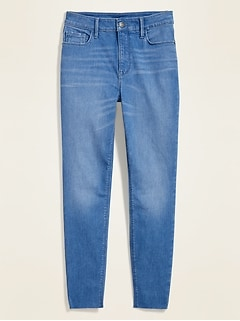 High-Waisted Rockstar Built-In Sculpt Super Skinny Cut-Off Ankle Jeans for Women