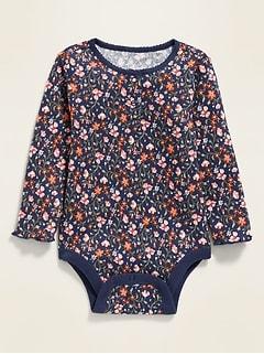 Cache-couche henley isotherme à fleurs pour bébé