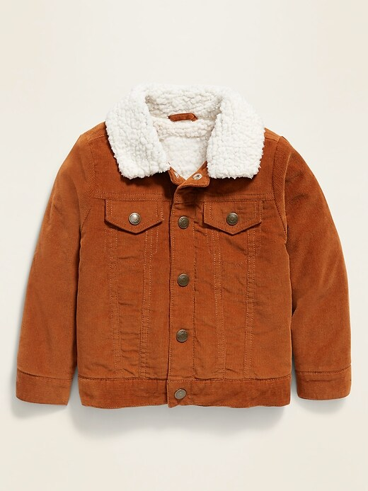 Unisex Sherpa-Lined Corduroy Trucker Jacket for Toddler
