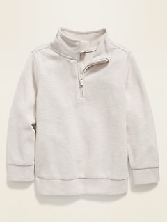 1/4-Zip French Rib Sweater for Toddler Boys
