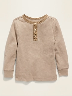 Long-Sleeve Thermal Tee for Toddler Boys