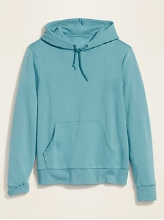 Solid-Color Pullover Hoodie for Men