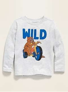 Long-Sleeve Graphic Tee for Toddler Boys