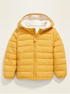 Unisex Water-Resistant Lightweight Narrow-Channel Puffer Jacket for Toddler