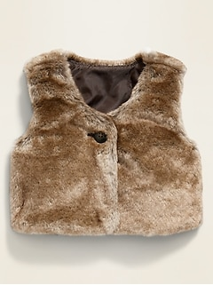 Unisex Faux-Fur Vest for Baby