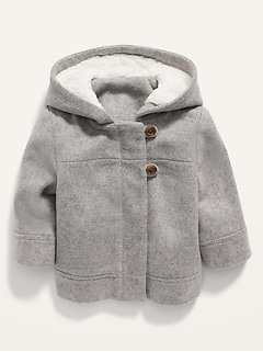 Unisex Soft-Brushed Hooded Coat for Baby