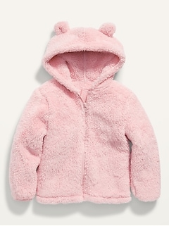 Sherpa Critter Jacket for Toddler Girls