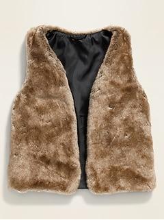 Faux-Fur Vest for Girls