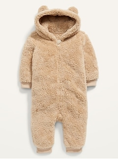 Unisex Critter Sherpa One-Piece for Baby