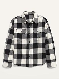 Chemise en flanelle Built-In Flex à carreaux pour garçon
