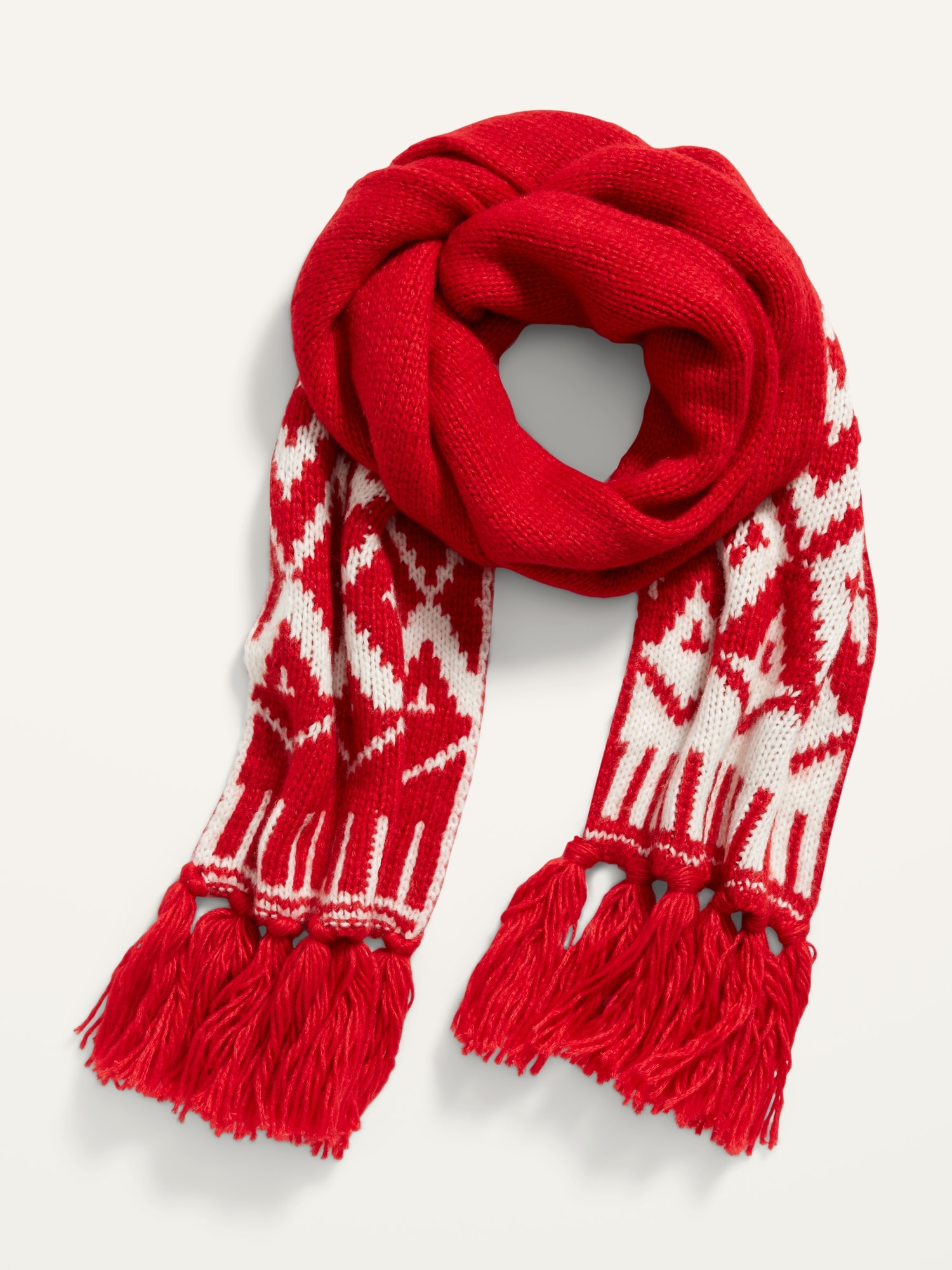Fringed Sweater Knit Scarf For Women Old Navy