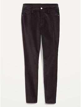 High-Waisted Rockstar Super Skinny Velvet Jeans