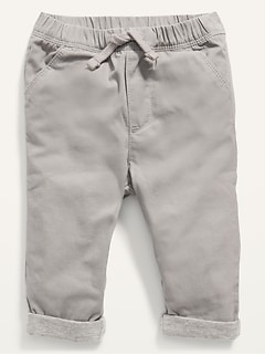 Unisex Cozy-Lined U-Shaped Pull-On Pants for Baby