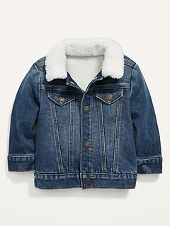 Unisex Sherpa-Lined Jean Trucker Jacket for Baby