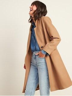 Oversized Soft-Brushed Overcoat for Women