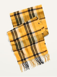 Cozy Flannel Gender-Neutral Scarf for Men & Women