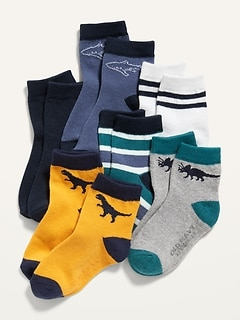 Unisex Crew Socks 6-Pack for Toddler & Baby