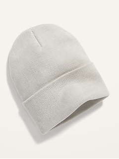 Sweater-Knit Roll-Cuff Gender-Neutral Beanie for Men & Women