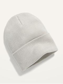 Bonnet unisexe en tricot à bord roulé pour homme et femme