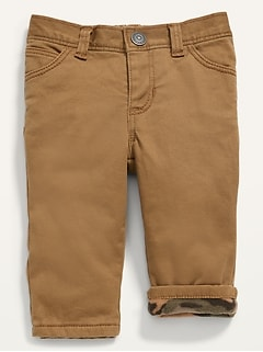 Unisex Cozy-Lined Twill Pants for Baby
