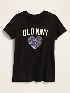 T-shirt à logo à manches courtes pour fille