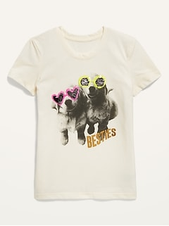 Flippy-Sequin Graphic Tee for Girls
